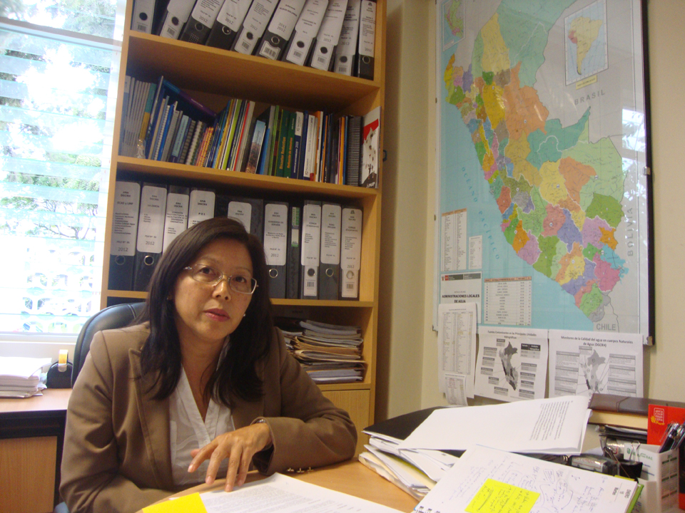 Betty Chung, Manager of the Quality of Water Resources Department at ANA.